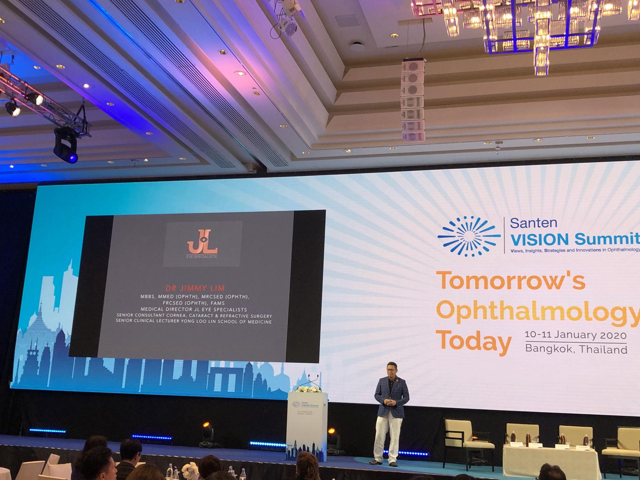 Tomorrow's Opthalmology, Today, Santen Vision Summit 2020, Bangkok, Thailand